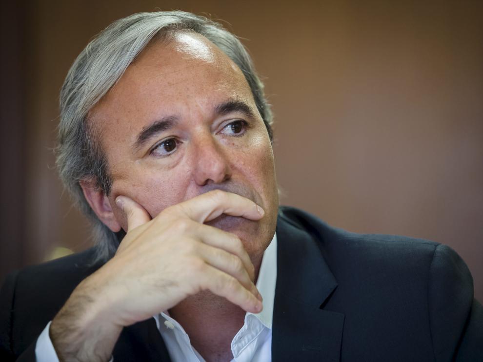 Jorge Azcón, portavoz del PP en el Ayuntamiento de Zaragoza