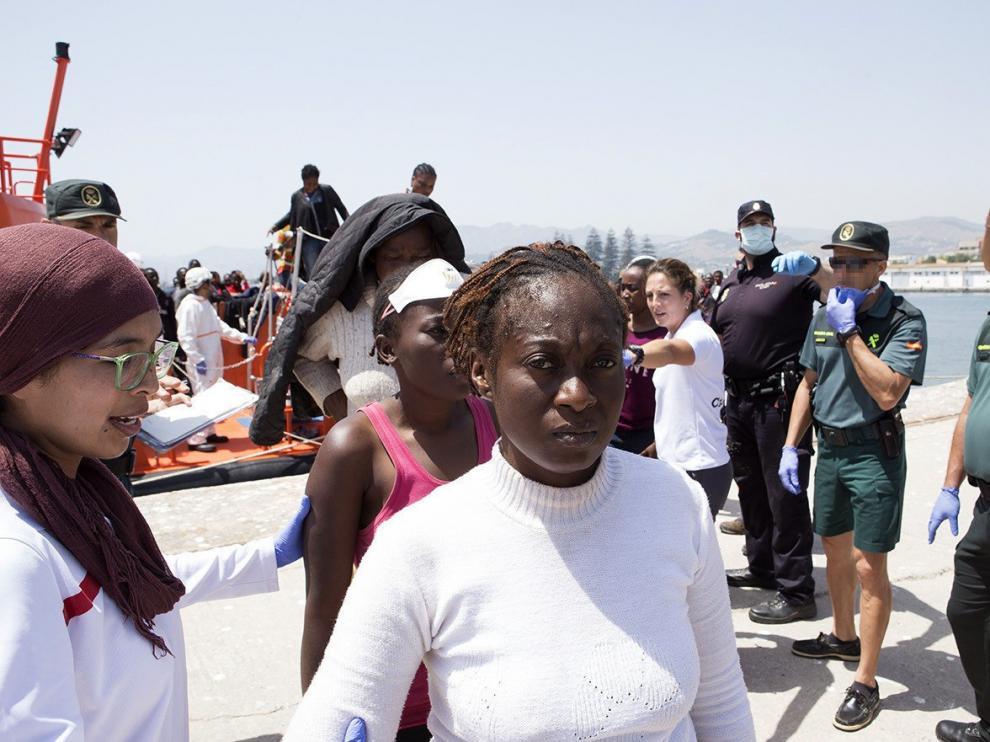 Foto de archivo en las cercanías de la isla de Alborán cuando fueron rescatadas 73 personas de origen subsahariano.