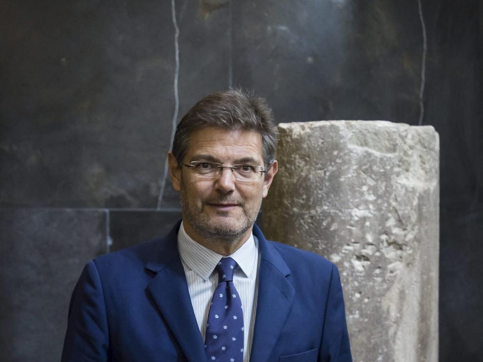 Rafael Catalá, tras la entrevista concedida a HERALDO, ayer.