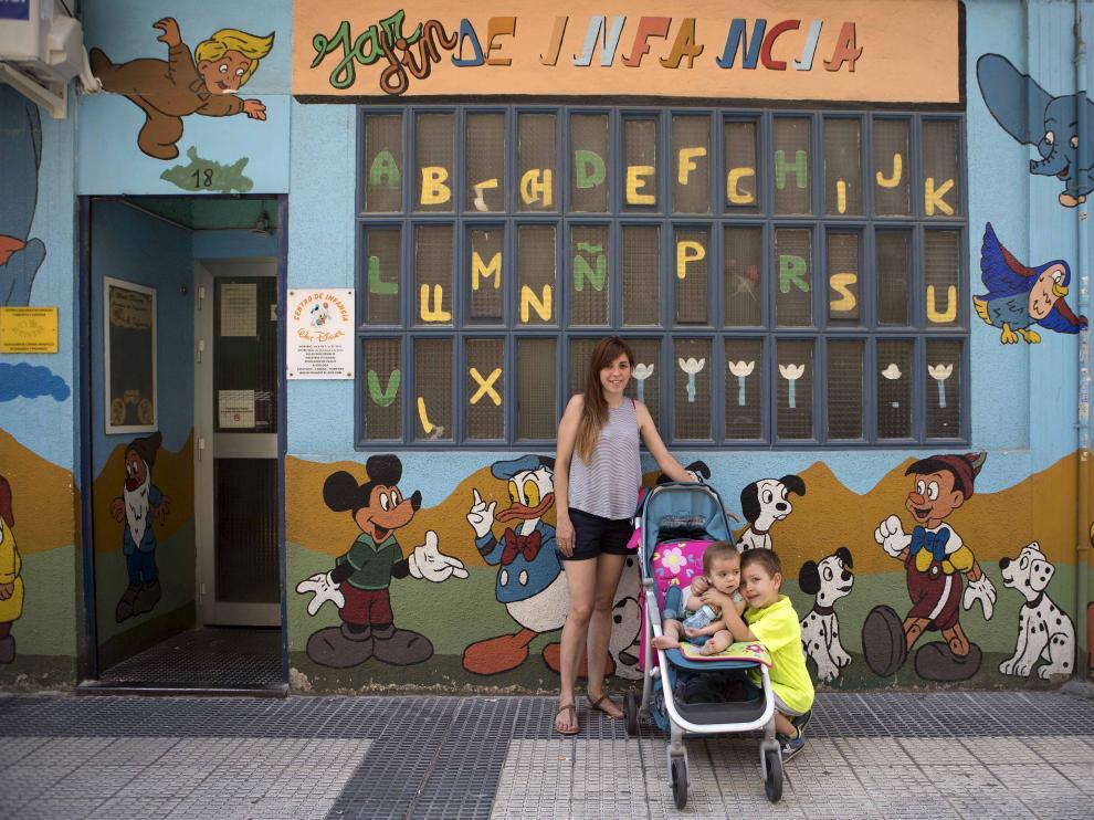 Silvia Gareta, profesora interina que denunció que los días de baja maternal no le computaban como trabajados.