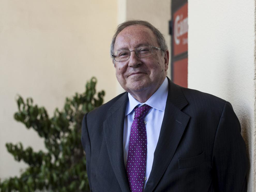 Bonet, ayer en Zaragoza, donde se reunió con los presidentes de las Cámaras aragonesas.