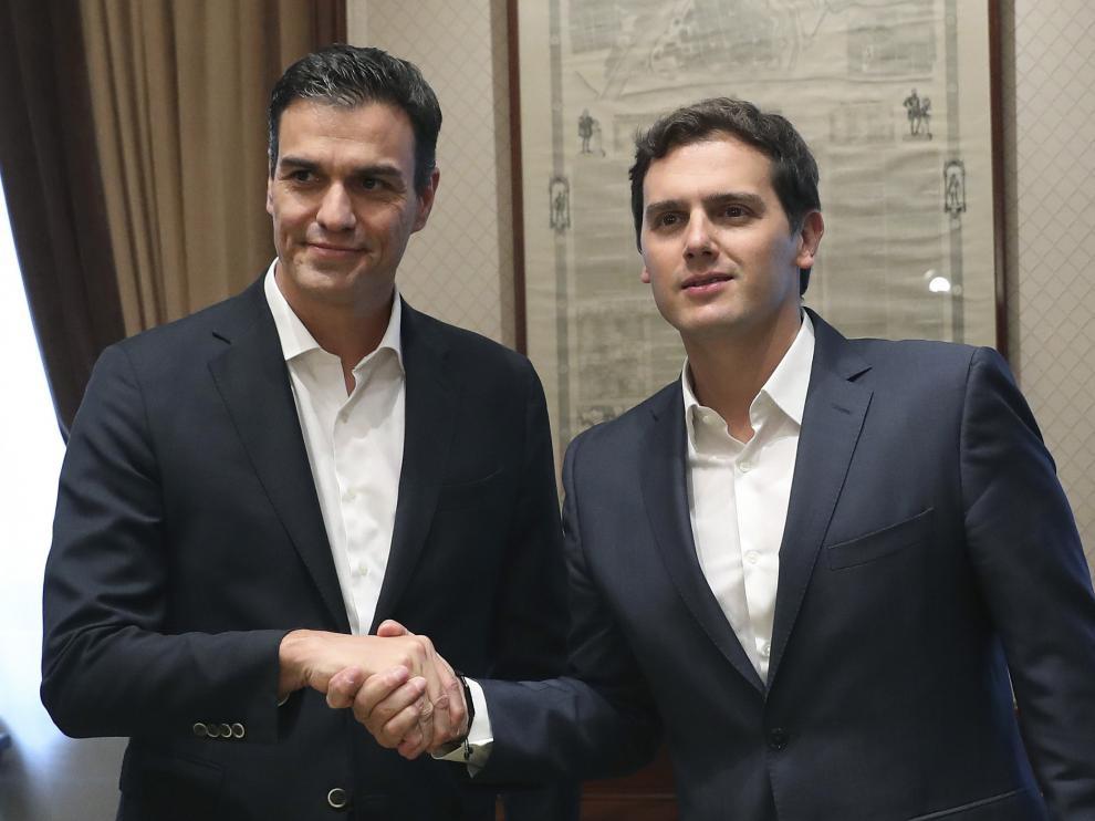 Sánchez y Rivera, en los momentos previos a un encuentro reciente.