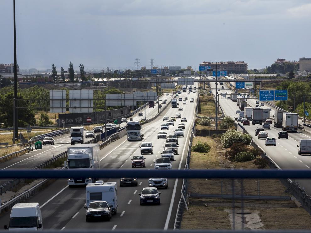 La Ronda Norte de Zaragoza fue una de las vías que más volumen de tráfico soportó durante la primera jornada de la operación salida.