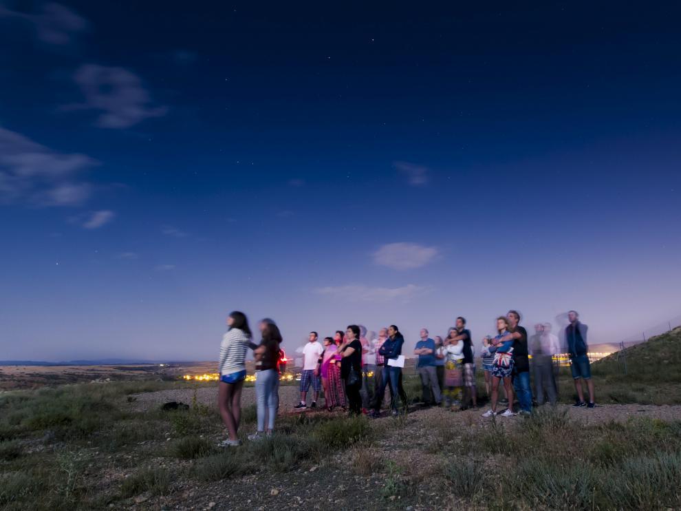 Una actividad de observación astronómica en la sierra de Gúdar-Javalambre.