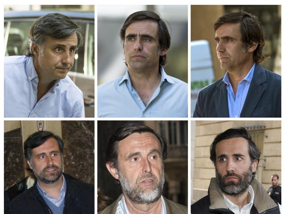 Los seis hermanos Ruiz-Mateos.