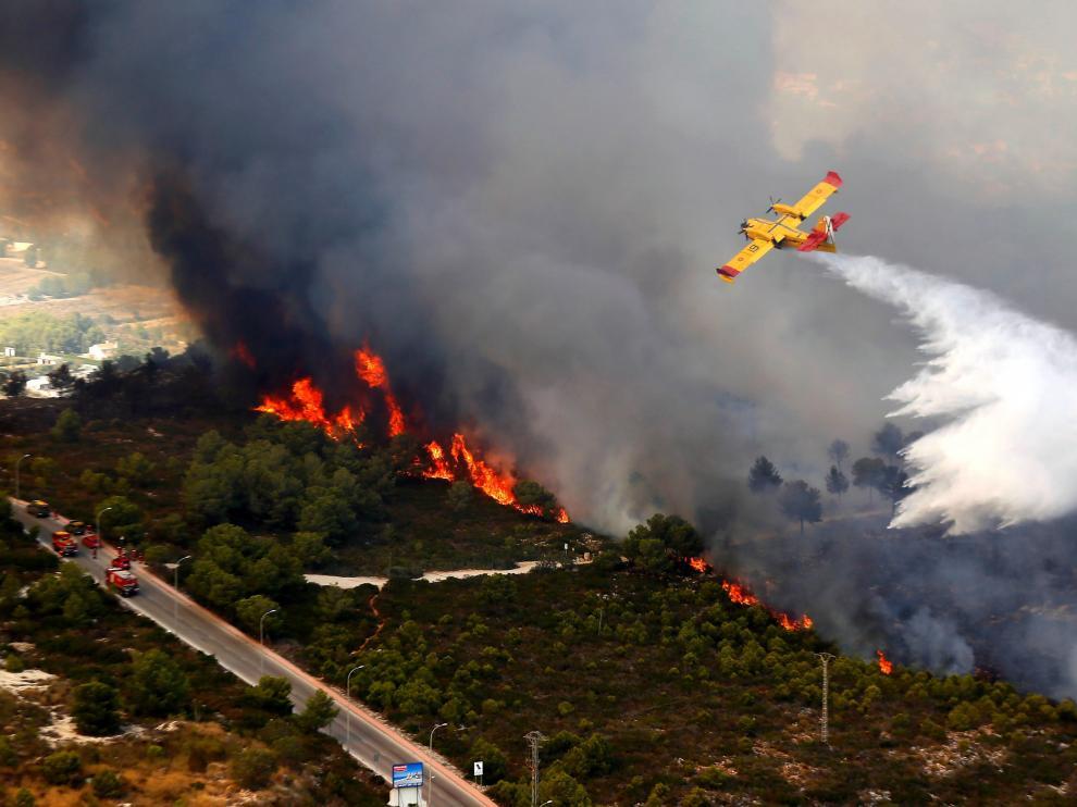 Imagen de archivo del incendio en Mazagón (Huelva).