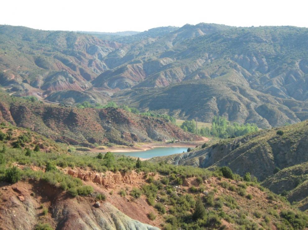 Vistas del Embalse de la ruta de Los Trancos.