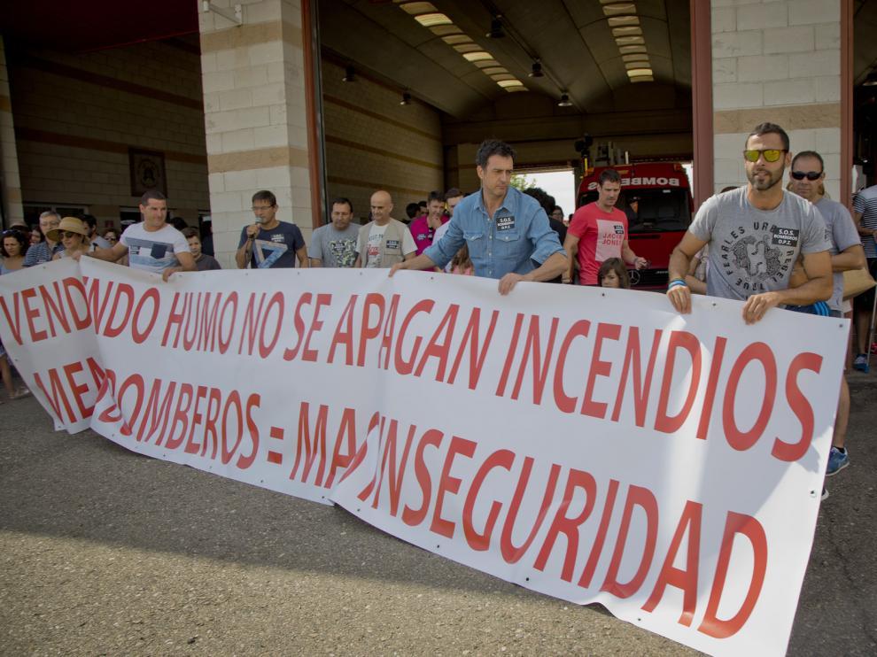 Protesta en La Almunia