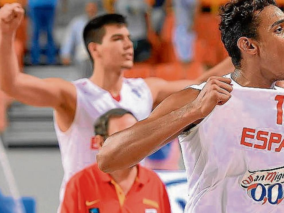 El ala-pívot Sebas Saiz, en su etapa en la selección española sub 20.