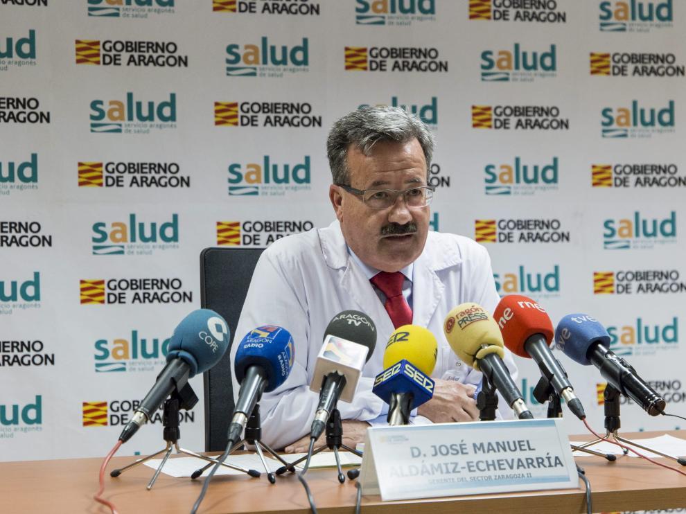 El gerente del Sector Zaragoza II, José Manuel Aldámiz-Echevarría