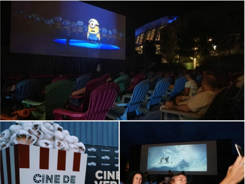Cine de verano al aire libre en Puerto Venecia