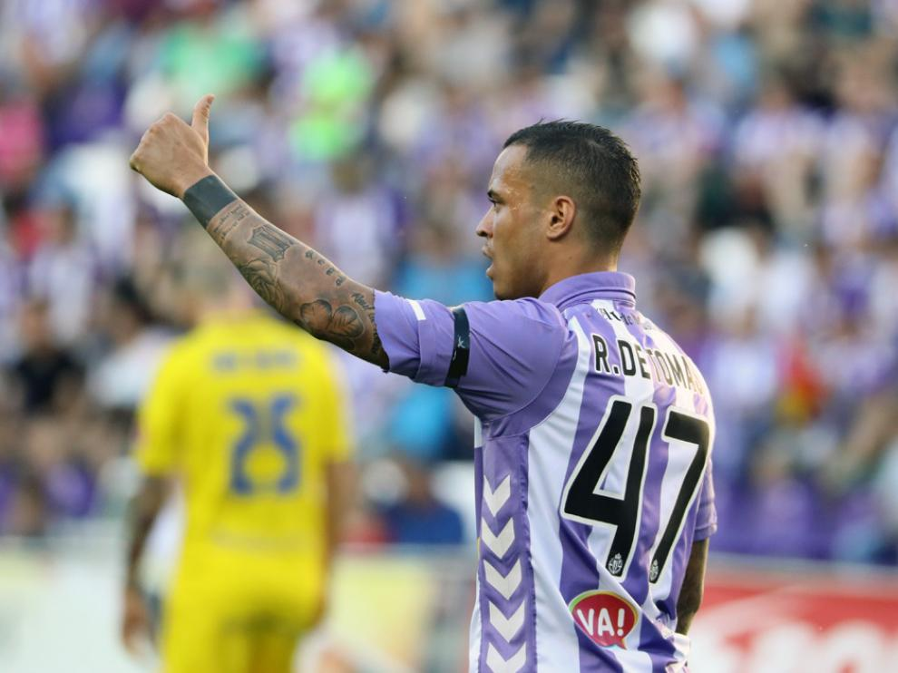 Raúl de Tomás en el último partido de la temporada con el Valladolid, ante el Cádiz