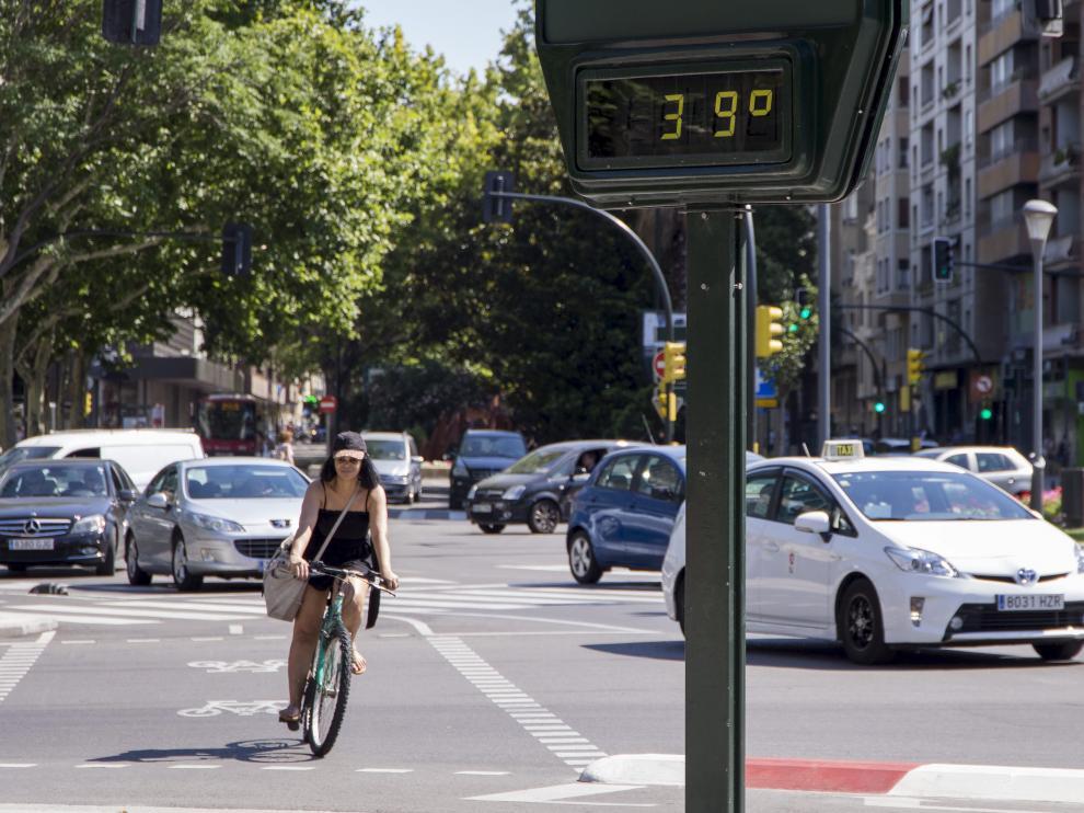 Zaragoza, con 39 grados.