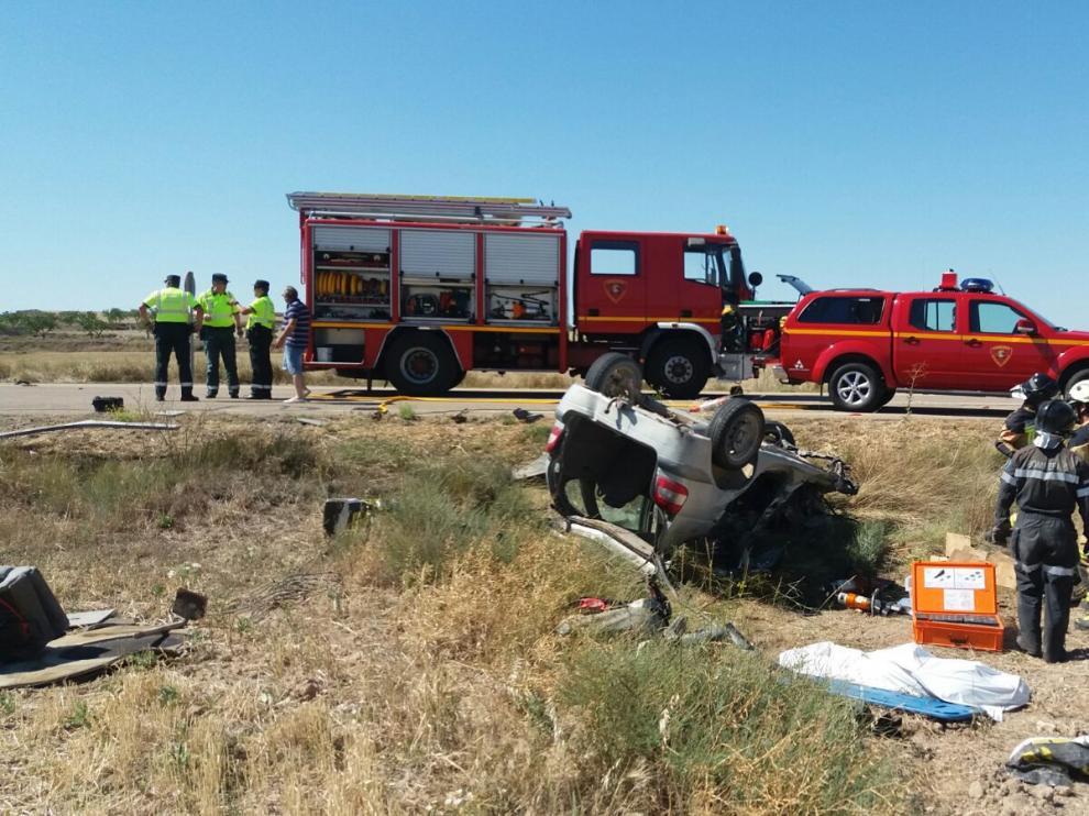 Accidente de tráfico en la carretera entre Borja y Mallén