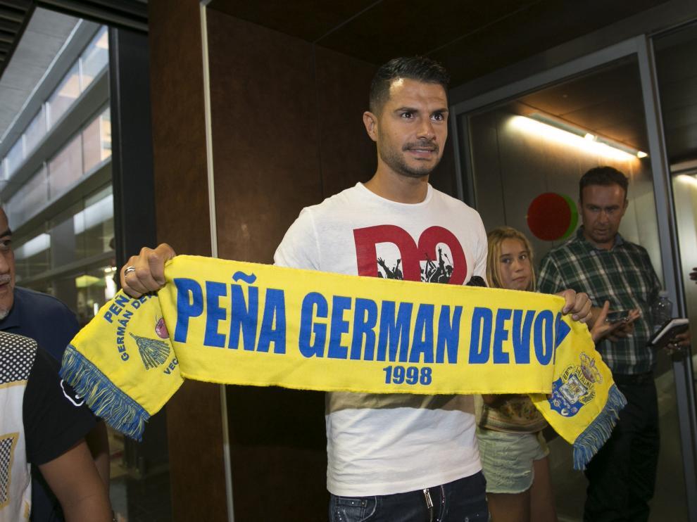 Vitolo, a su llegada a Las Palmas