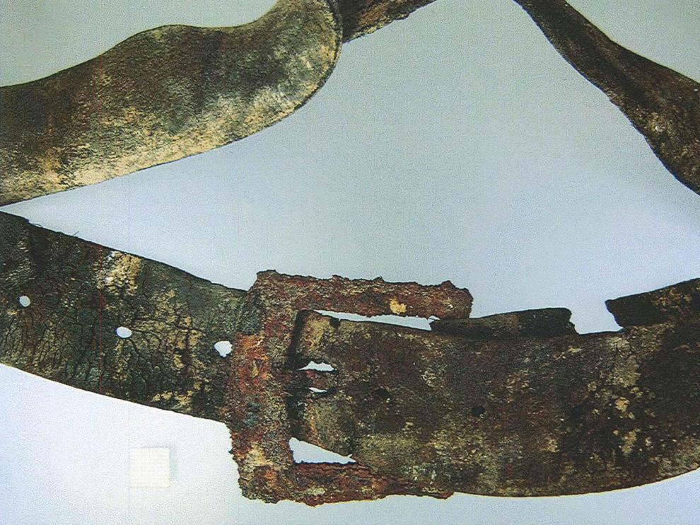 Uno de los restos hallados en Urzante.