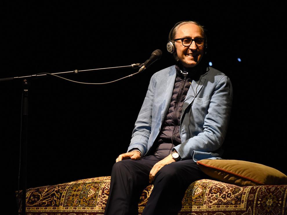 Franco Battiato en el escenario de Lanuza en Pirineos Sur