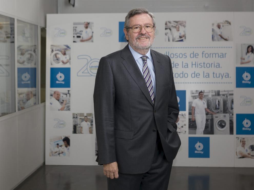 José Longás, consejero delegado de BSH Electrodomésticos España, en la planta de La Cartuja de Zaragoza.