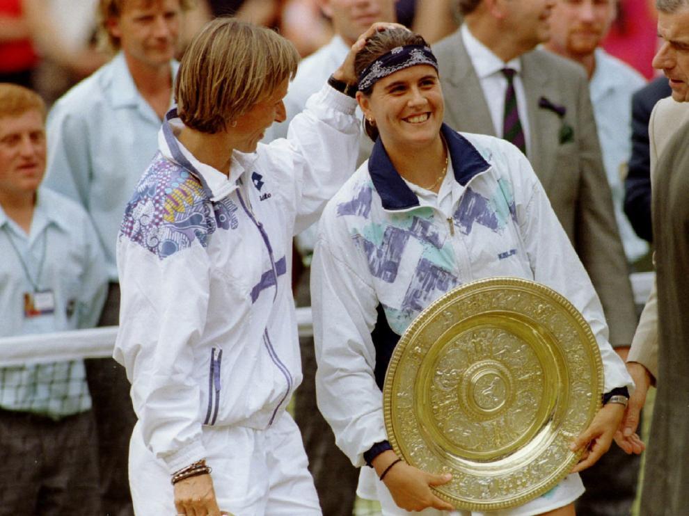 Conchita Martínez, ganadora de Wimbledon 1994.