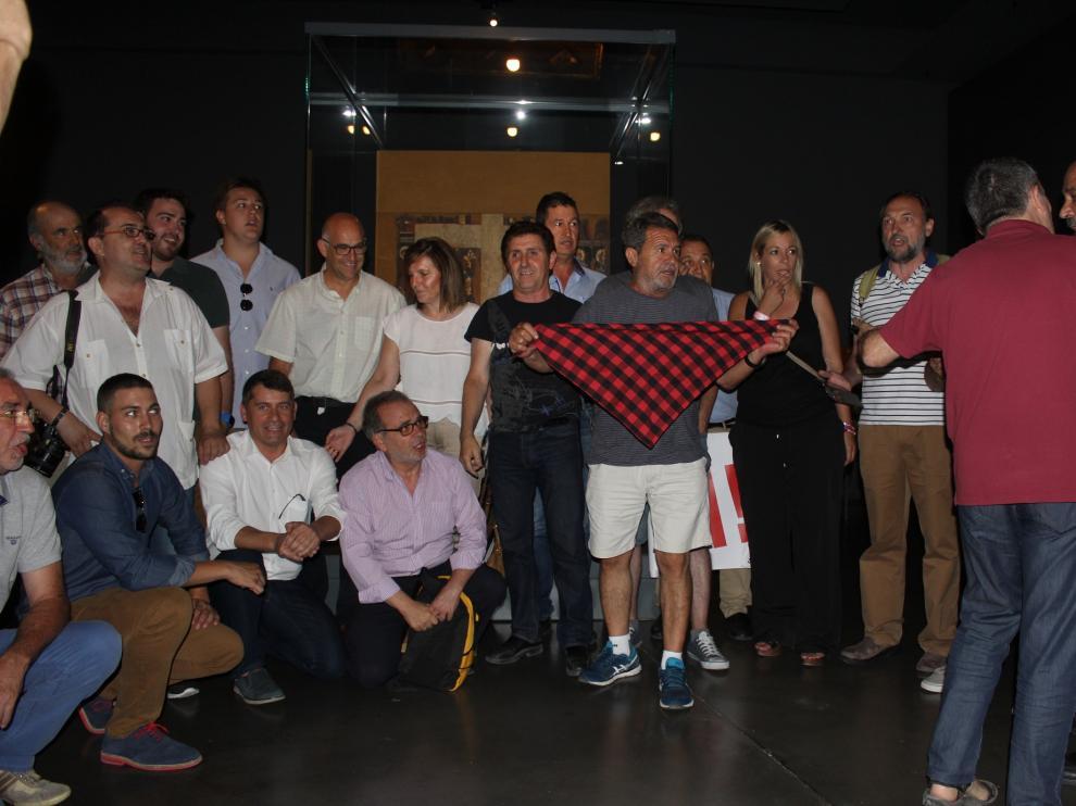 La plataforma Sijena Sí reivindica en el Museo de Lérida la entrega de las 44 obras retenidas