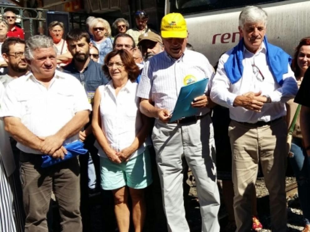 Movilización de este domingo para reivindicar la reapertura del paso internacional de Canfranc.