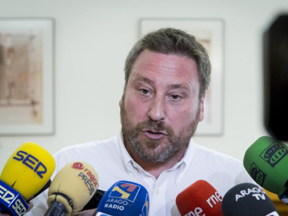 El consejero de Vertebración del Territorio del Gobierno de Aragón, José Luis Soro.