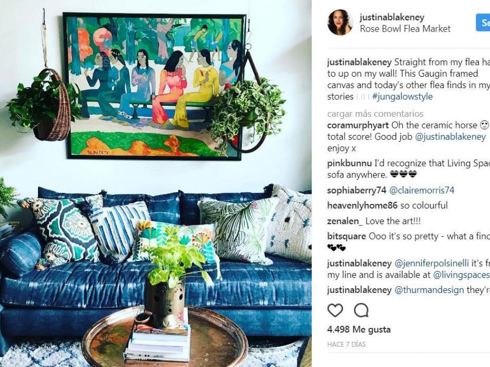 El salón de Justina Blakeney.