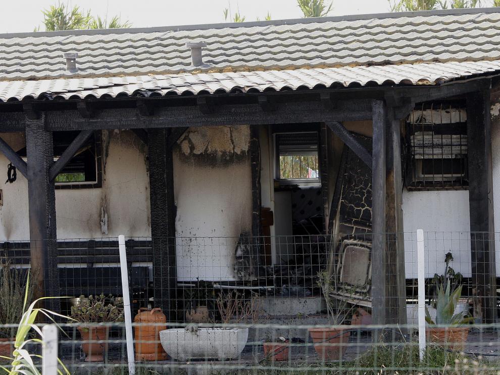 Estado en el que quedó la vivienda tras el incendio.