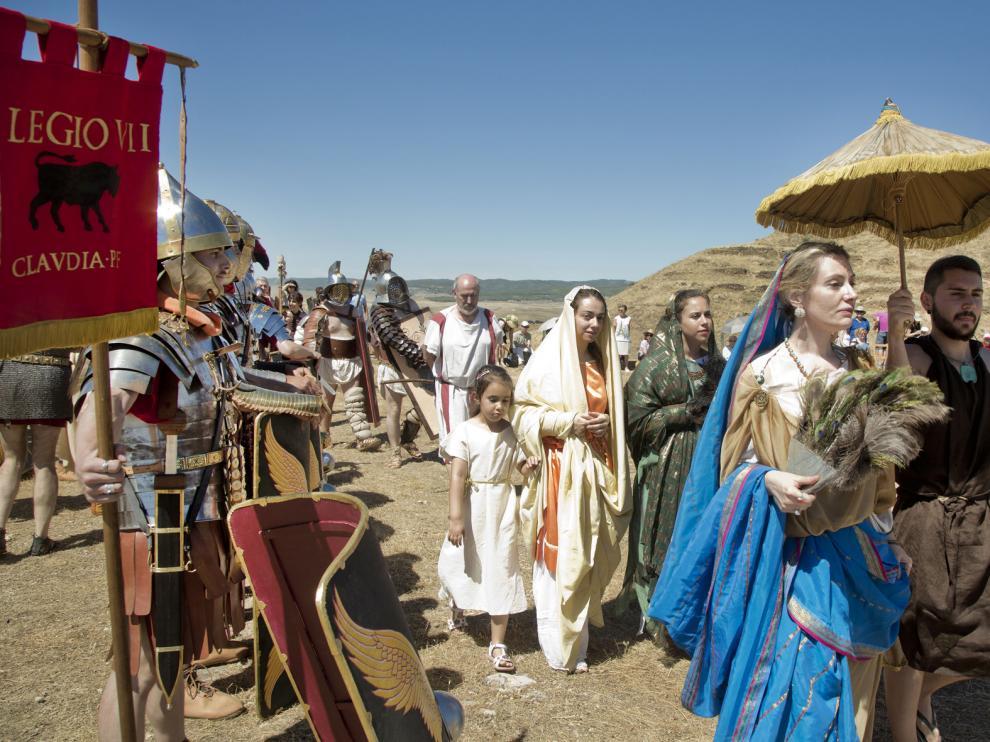 Recreación de escenas romanas durante la primera edición de Bilbilis Renascentis.