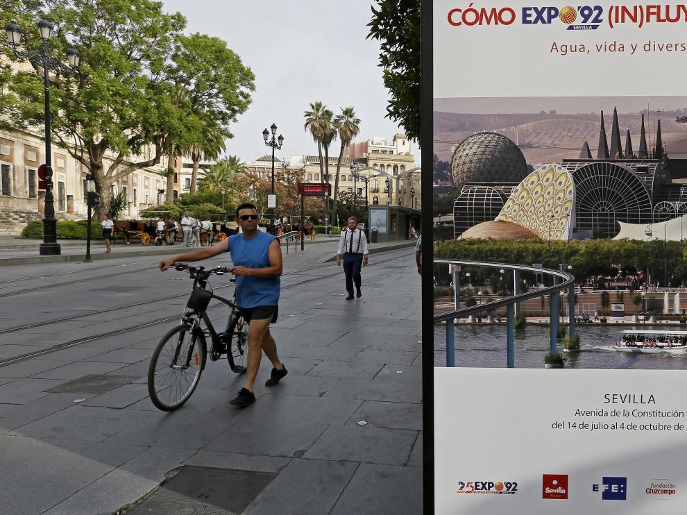 La exposición en el centro de Sevilla.