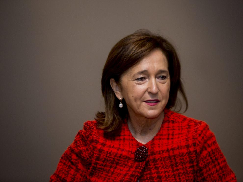 La directora de la Biblioteca Nacional, la aragonesa Ana Santos.
