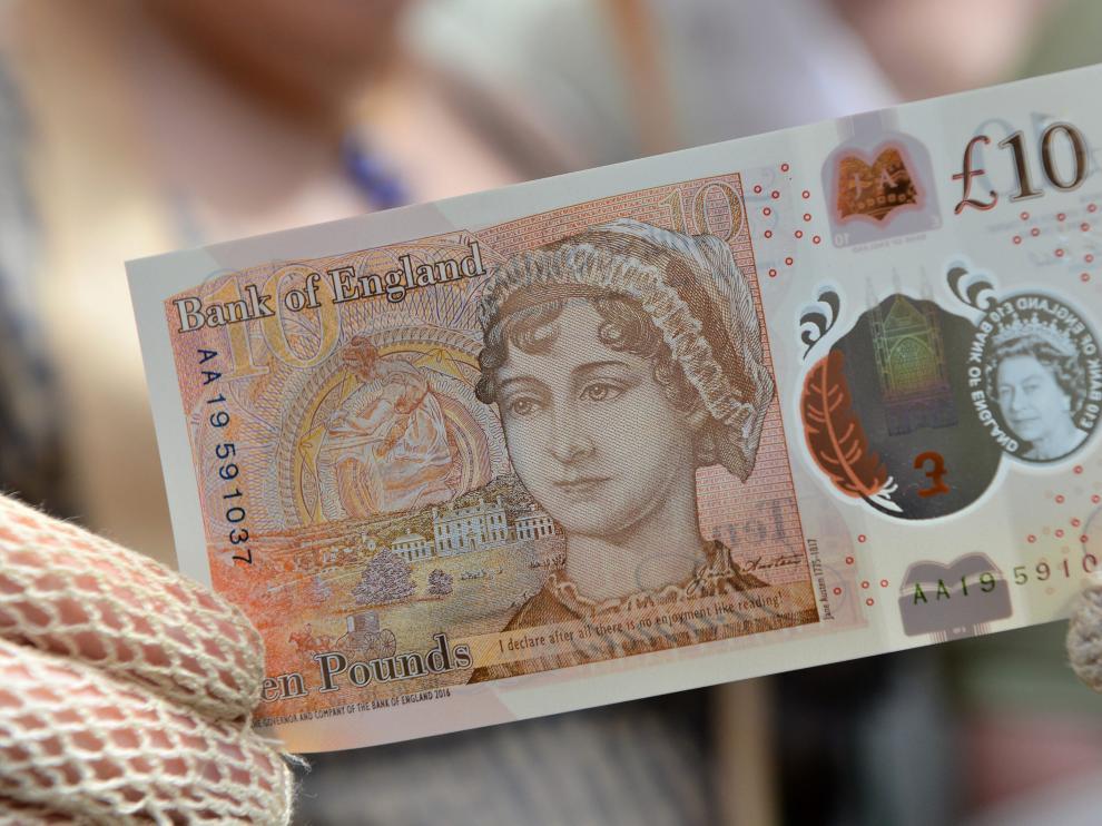 Imagen del nuevo billete de 10 libras
