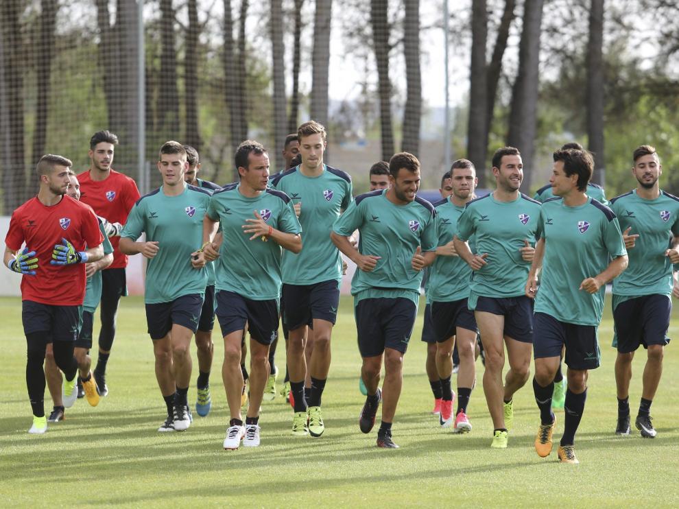 Primer entrenamiento del Huesca