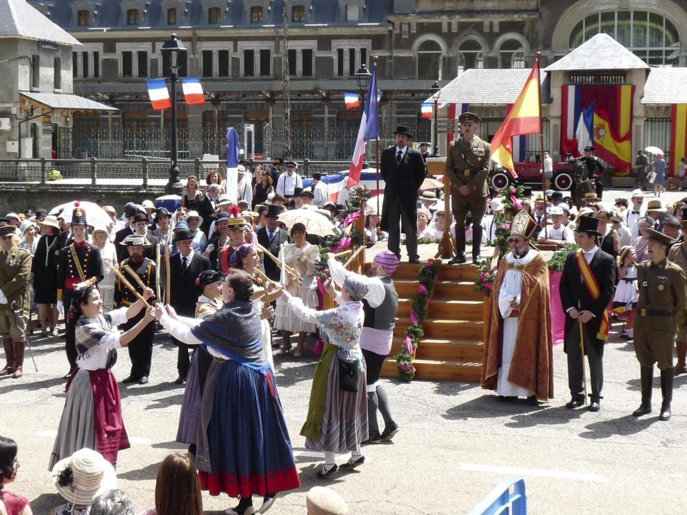 IV Recreación histórica de la apertura de la línea del Canfranc