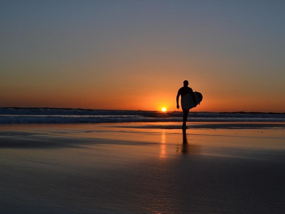 Practicar surf para encontrarse a uno mismo.