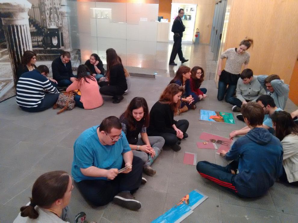 Una de las actividades culturales organizadas en Zaragoza.
