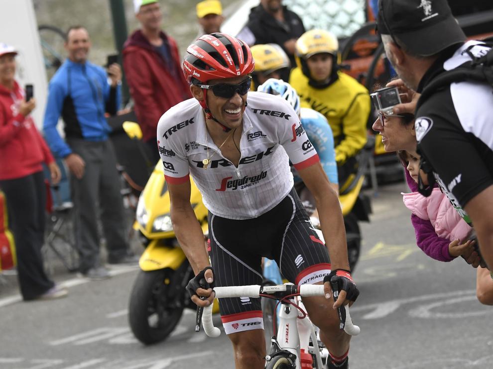 El ciclista de Pinto, durante la etapa de este miércoles