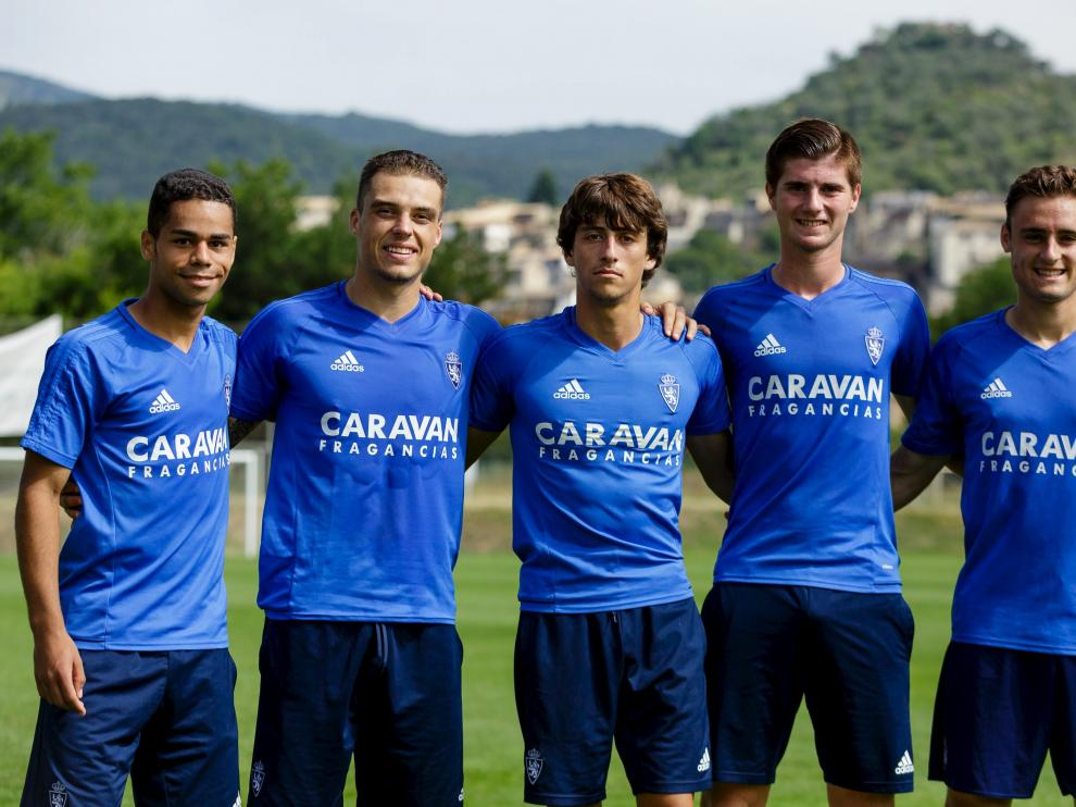 Raí, Pombo, Delmás, Zalaya y Lasure, los cinco canteranos que enriquecen el primer equipo.