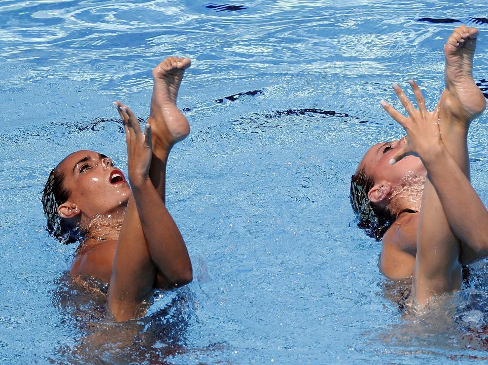 Ona Carbonell y Paula Ramírez han finalizado satisfechas su participación en las pruebas de dúo.