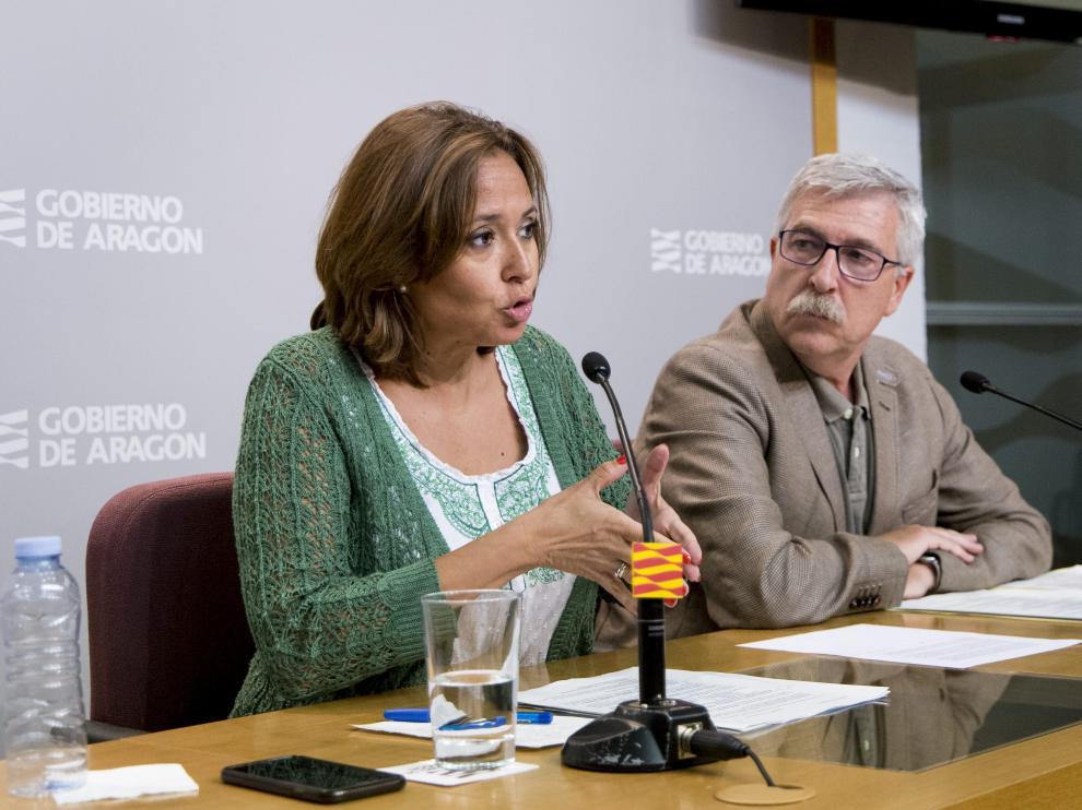 Mayte Pérez, durante una rueda de prensa