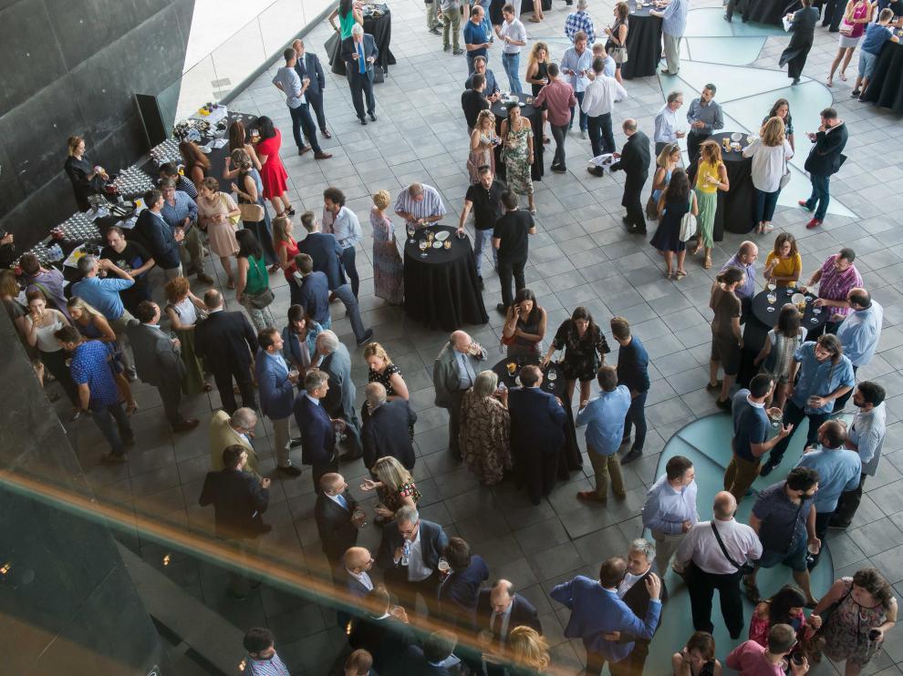 Imagen que presentaba la terraza del Caixaforum al concluir la entrega de premios.