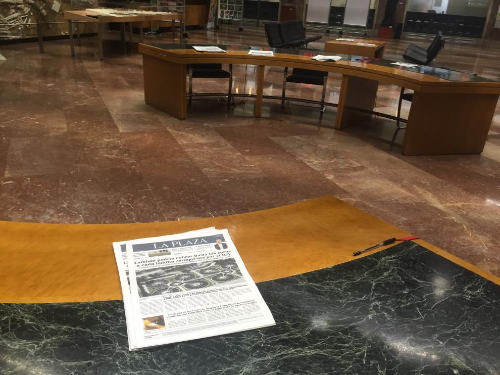 Imagen de la publicación de Podemos en el Ayuntamiento.