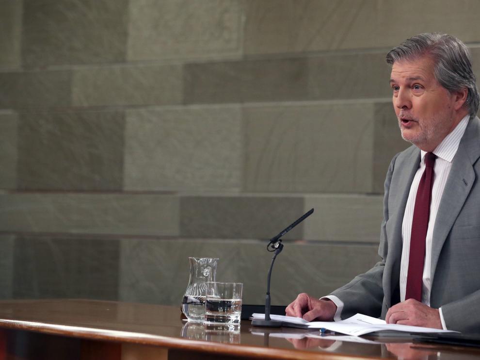 Íñigo Méndez de Vigo, tras el Consejo de Ministros de este viernes.