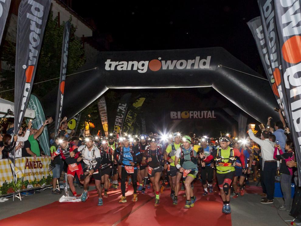 Salida del Gran Trail Aneto-Posets 2017. La competición del 2018 se celebra este fin de semana.