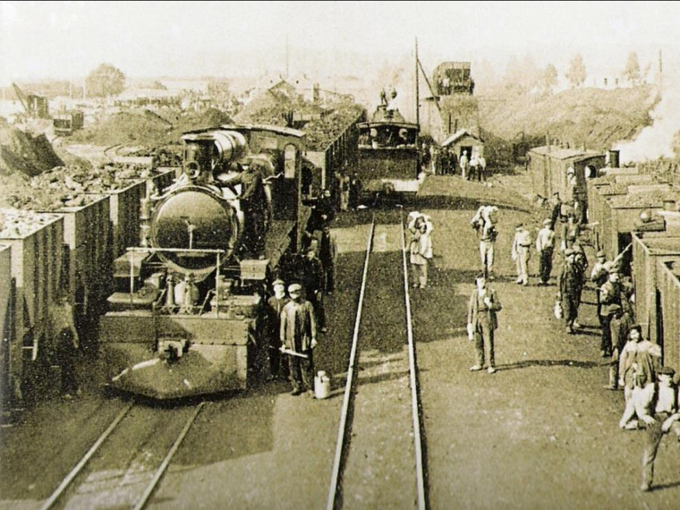 Estación del tren minero en Ojos Negros