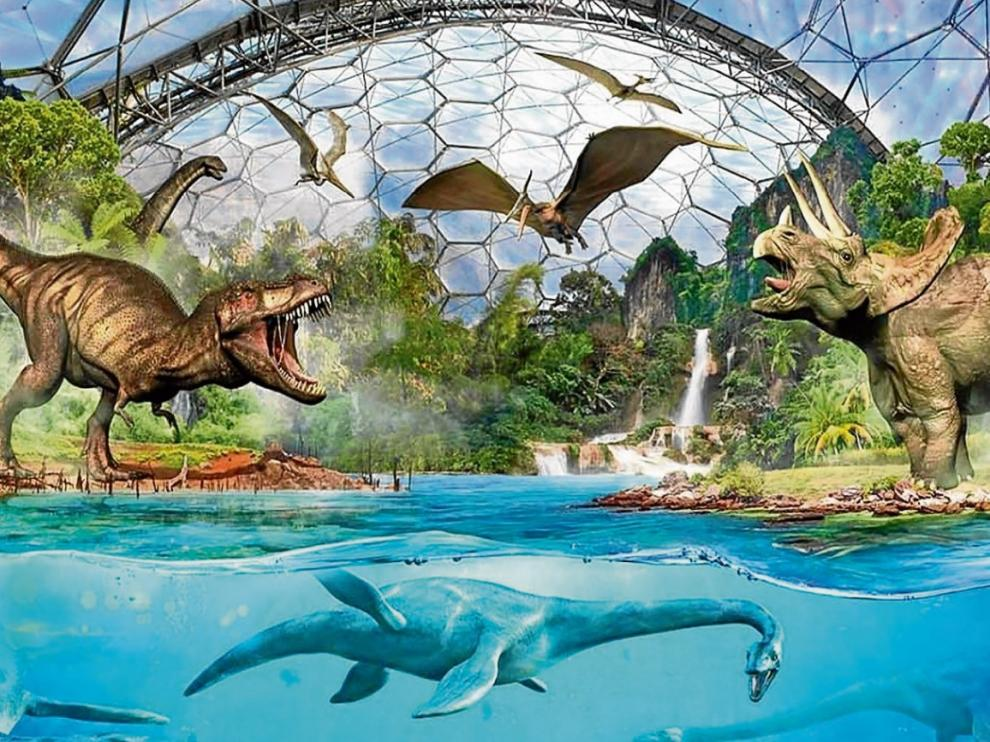 El parque paleontológico de Teruel mostrará en los próximos años recreaciones sobre los tres hábitats de la Tierra en el Jurásico.