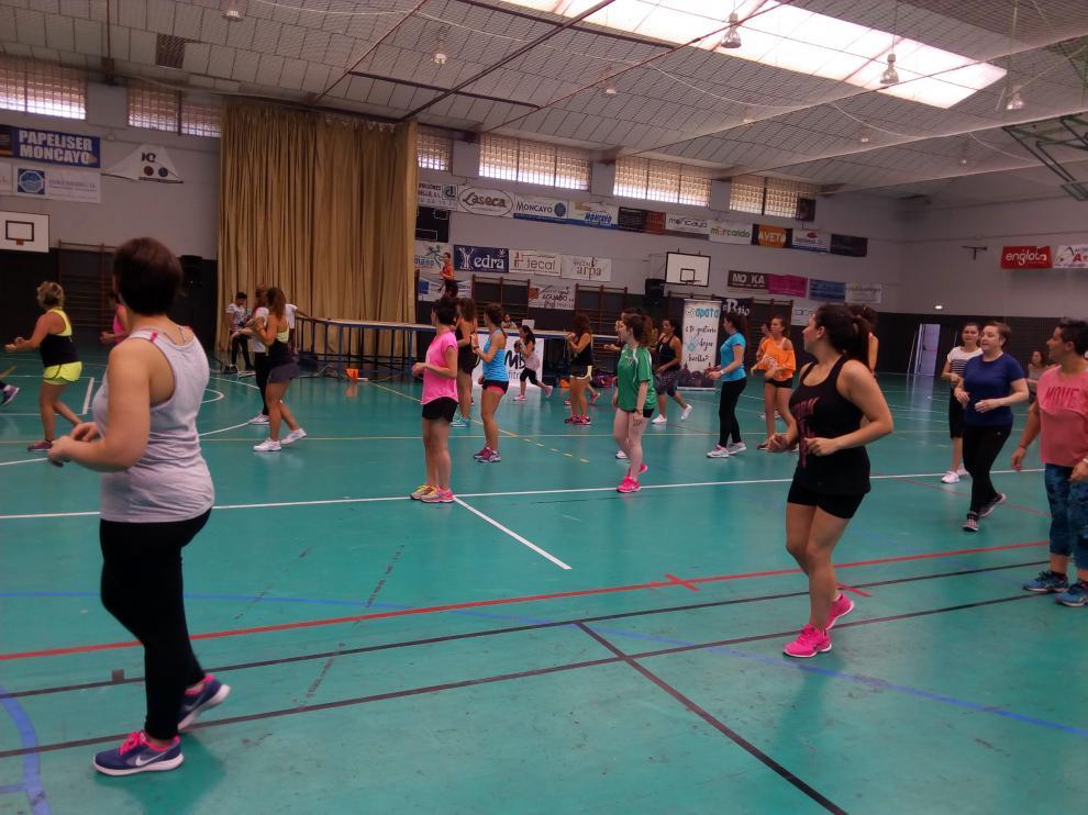 La master class de zumba se ha celebrado en el polideportivo turiasonense.