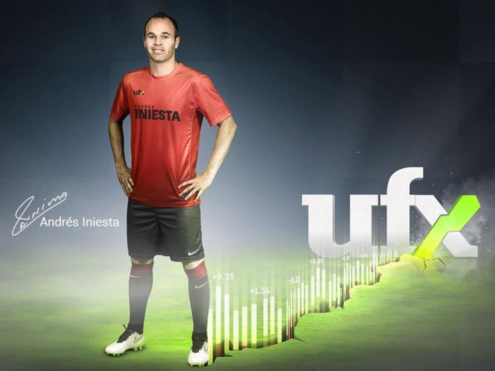 El jugador Andrés Iniesta, nuevo embajador de UFX.