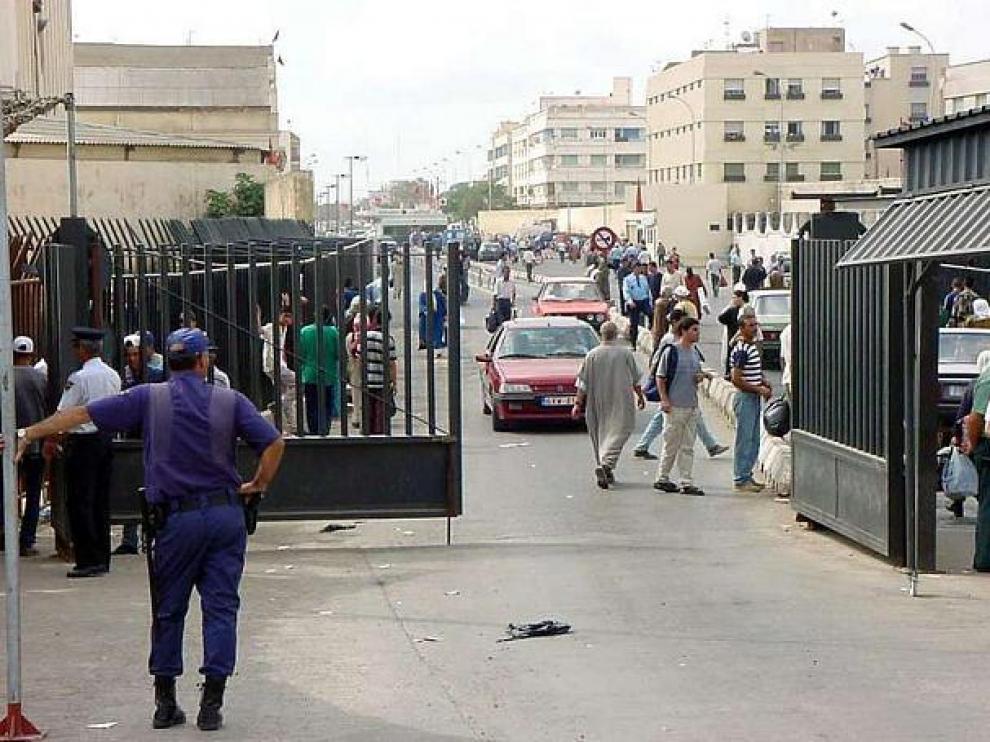 Paso fronterizo de Beni Enzar de Melilla, en una foto de archivo.