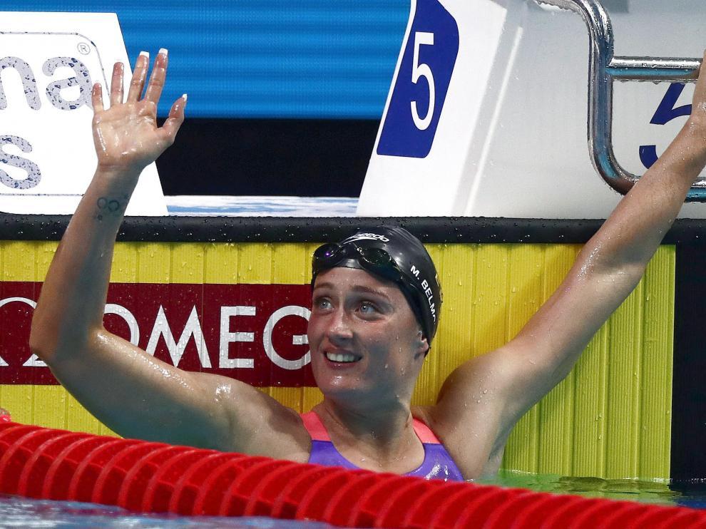 La nadadora española ha logrado la plata